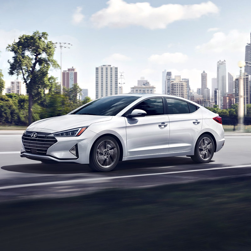 2020 Hyundai Elantra in white