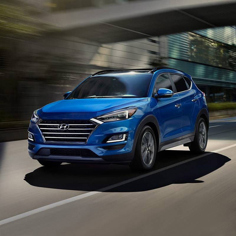 2020 Hyundai Tucson in blue