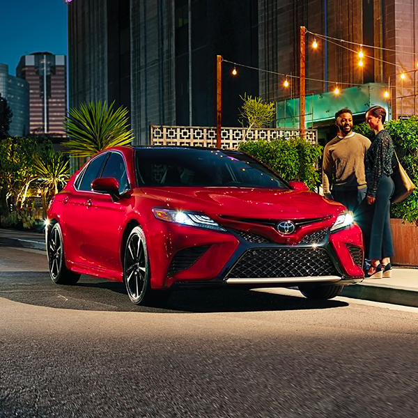 2020 Toyota Camry in red